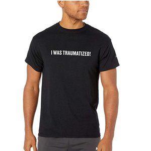 Puma Mens Black I Was Traumatized T-Shirt M XL NWT